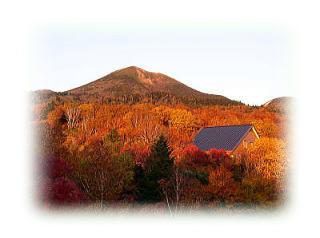 紅葉の中の八甲田山分園