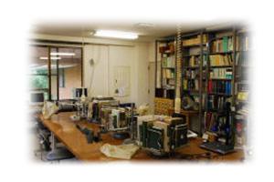 2階・標本整理室の様子